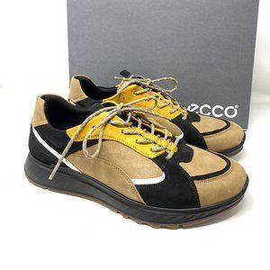 ECCO ST.1 MEN'S LAYERED SNEAKERS Brown Black